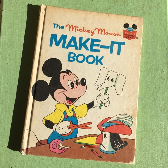 Disney Other - 1974 DISNEY Make-it Book Mickey Mouse